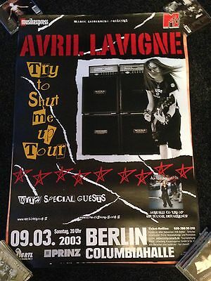AVRIL LAVIGNE - Rare large promo only German BILLBOARD gig poster 2003 L@@K