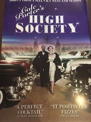 High Society Theatre Flyer Signed Susie Blake
