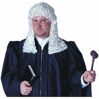 Deluxe White Judge Wig Costume Accessory Adult Halloween