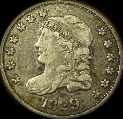 1829 Capped Bust Half Dime...Outstanding Original Raw VF+ w/ Tons of Appeal!!