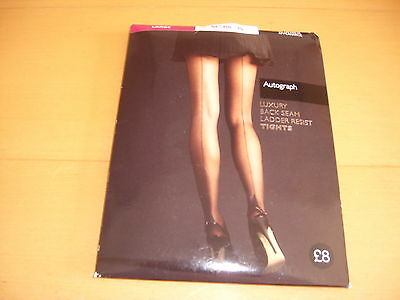 Ex M@s 15 Denier Back Seam Tights Size( Large)
