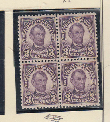 A very nice old United States Unused 1923 Three Cents Block of Four
