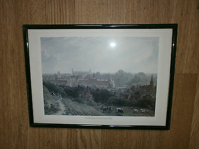 small framed print cambridge from castle hill