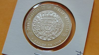 1971 Silver Medal Numismatic Society of Mexico  8 Reales
