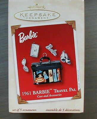 Barbie 1961 Travel Pal case and accessories-2002 MIB