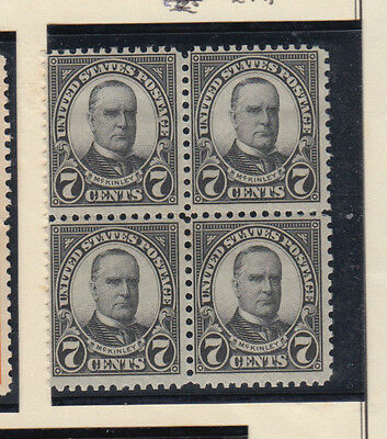 A very nice old United States Unused 1923 Seven Cents Block of Four