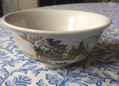 Vintage Chinese Rice Bowl With Classic Design