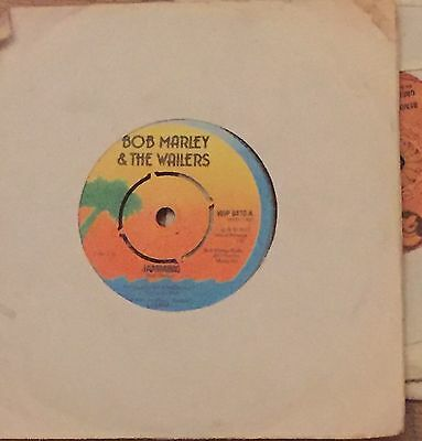 "Bob Marley & The Wailers : Jamming / Punky Reggae Party . Island Label 7"" VG +++"