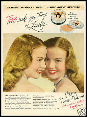 1950s vintage ad for Jurgen's Cosmetics