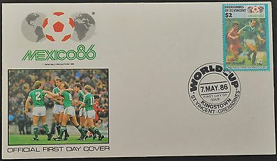 Stamp Cover ~ World Cup ~ Mexico 86 ~ Northern Ireland Football Team