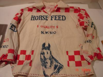 Unique Advertising Flour Sack Material Horse Feed Star Bag Shirt Anne Schleifer
