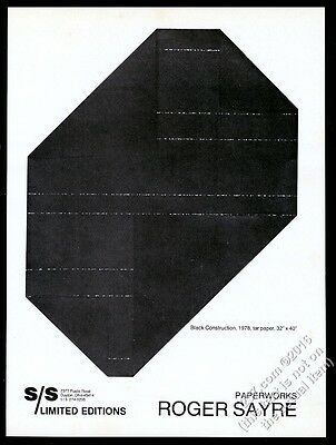 1978 Roger Sayre Black Constructions S/S Limited Editions vintage print ad