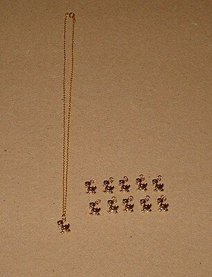 Lot of 10 Duck Pendants Charms and 1 Goldtone Duck Necklace Scrapbooking?