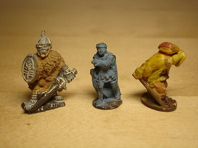 Lot of 3 Metal Miniatures, Assassin & Thieves, Dungeons & Dragons Citadel, Thief