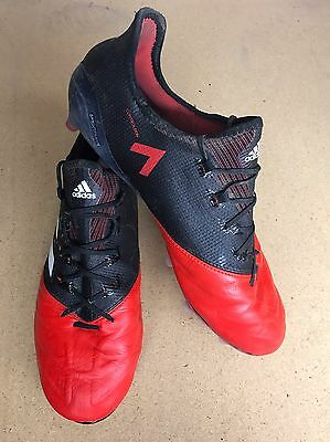 adidas ACE 17.1 Leather FG Football Boots Black / White / Red RRP £180 UK 10