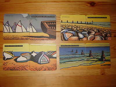 8  Adnams  Brewery ' Beer  From  The  Coast '   Beer  Mats / Coasters  Lot2  New