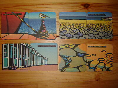 8  Adnams  Brewery ' Beer  From  The  Coast '   Beer  Mats / Coasters  Lot1  New