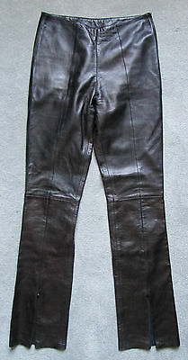 Rare Vintage Buttery Soft North Beach Leather Black Leather Trousers Pants W28