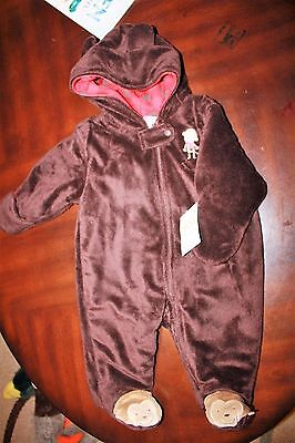 NWT Carter's size  3 month Monkey snow-suit