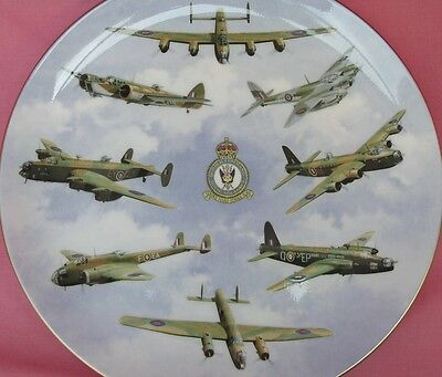 Coalport 50Th Anniversary Of Bomber Command Plate Brian Knight Royal Air Force