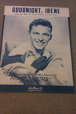 L@@k Frank Sinatra Goodnight, Irene Music Sheet In Very Good Condition