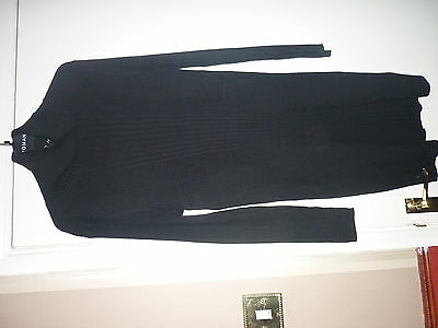 Smart And Cosy New Long Sleeve Polo Neck Dress. Black Size 16.