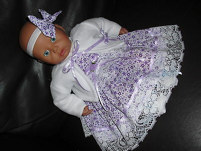 New beautiful  doll's clothes to fit Baby Annabel/reborn or 17-19 inch doll