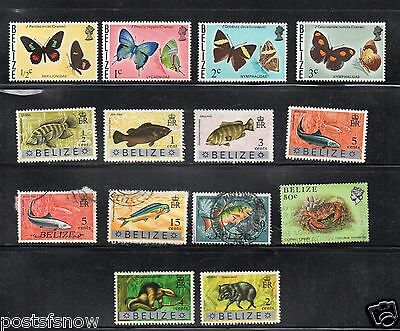 Belize Small group of mostly used stamps