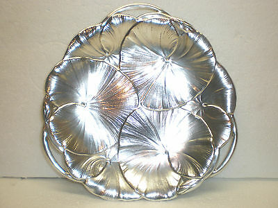 Vintage Wilcox International Silver Plate Charger ~Art Nouveau ~Lilly Pads ~Exc~