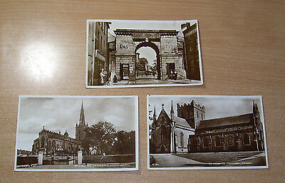 Postcard Ireland Co Derry Londonderry. Real photo X 3  1930s City Armagh