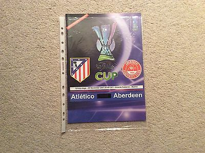 2007/8 Atletico Madrid v Aberdeen - Official Magazine Issue