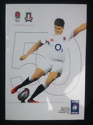 NEW 2017 ENGLAND v ITALY RBS SIX NATIONS Rugby Union Programme 26/02/2017 £6