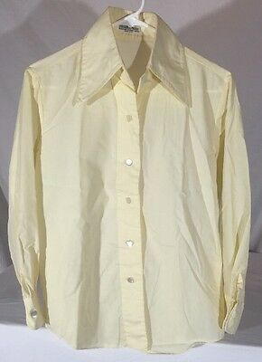 Vintage 60's Lady Marlboro Long Sleeve Button Down Shirt Women's M Large Collar