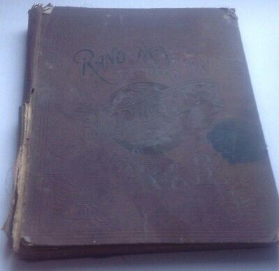 ANTIQUE, 1890, RAND McNALLY STANDARD ATLAS of the WORLD Maps RR Routes