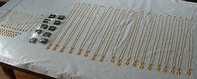 71 Items of Jewelry Lot Wild Cat Related Panther Necklaces Tiger Brooches etc.