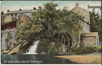 Old water wheel, Moville, Co Donegal, Ireland, on colour postcard from library