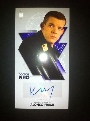 TOPPS Dr Who Tenth Doctor Adventures Autograph Auto Card  RUSSELL TOVEY BLUE