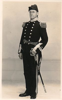 Man in Naval Uniform,Postcard by Lillian Ream,Wisbech.Photographic.See Scans
