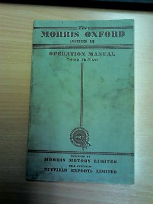The Morris Oxford (Series ll) Operation Manual Third Edition