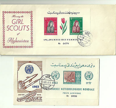 Afghanistan- 1961/ 1963 Covers- Girl Scouts/ Space