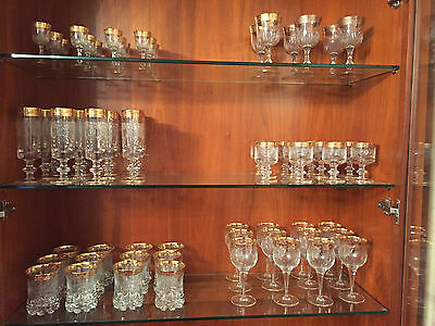 Italian, Gold Rimmed Glassware, Variety of Styles
