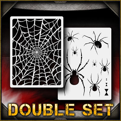 Spider Web Set 1 Airbrush Stencil Template Airsick