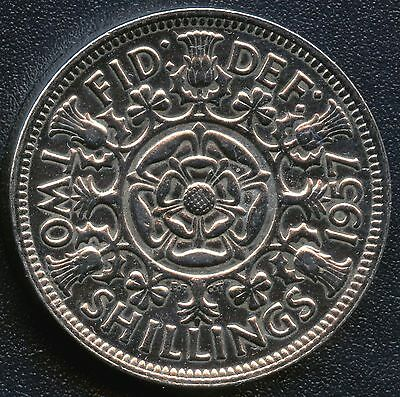 1957 Great Britain 2 Shilling Coin