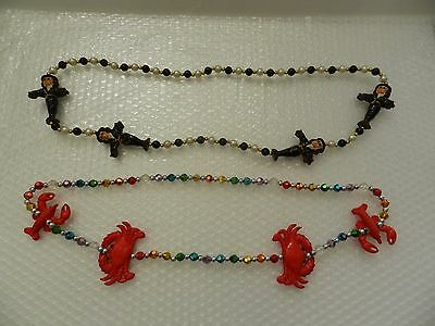 mARDI GRAS NEW ORLEANS VOODOO MAN CRAB LOBSTER NECKLACES HOLIDAY PARTY JEWELRY