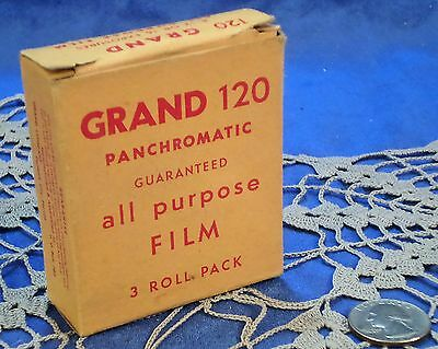 DM...Vintage Grand 120 Panchromatic All Purpose Film Roll and Box