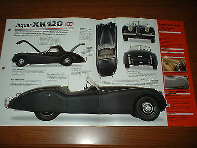 1951 Jaguar Xk120 M Spec Sheet Brochure Photo Poster Print 51 48 49 50-54 Xk 120