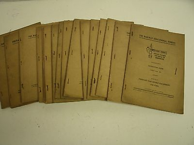 19 booklets 'The Railway Educational Bureau Instruction Papers' 1926-1929