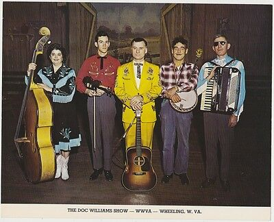 1963 autographed photo-Doc Williams country band Wheeling WV-4 signatures