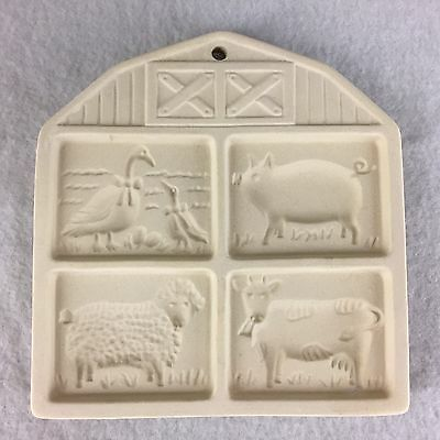 Pampered Chef Farmyard Friends Cookie Stamp 1994 Mold Duck Pig Sheep Cow
