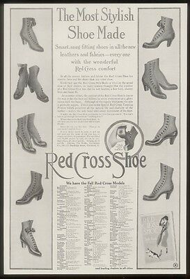 1911 Red Cross Shoes women's styles vintage print ad